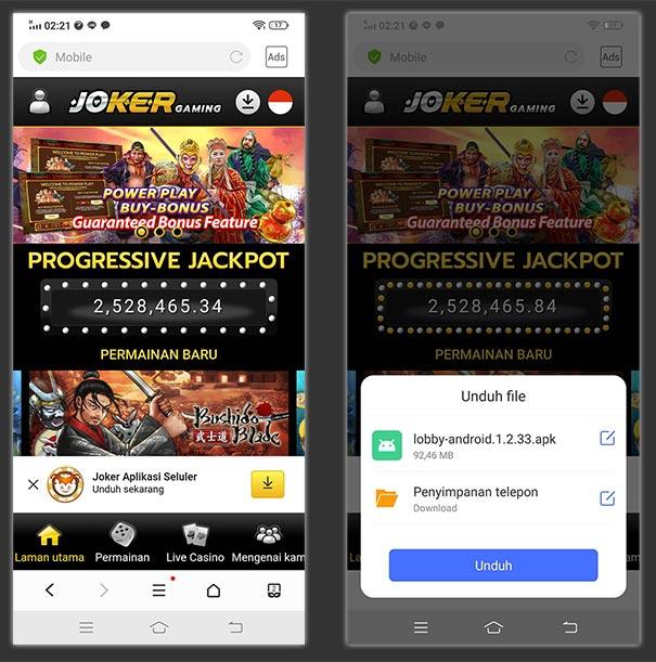 Cara Download & Instal Aplikasi Joker123
